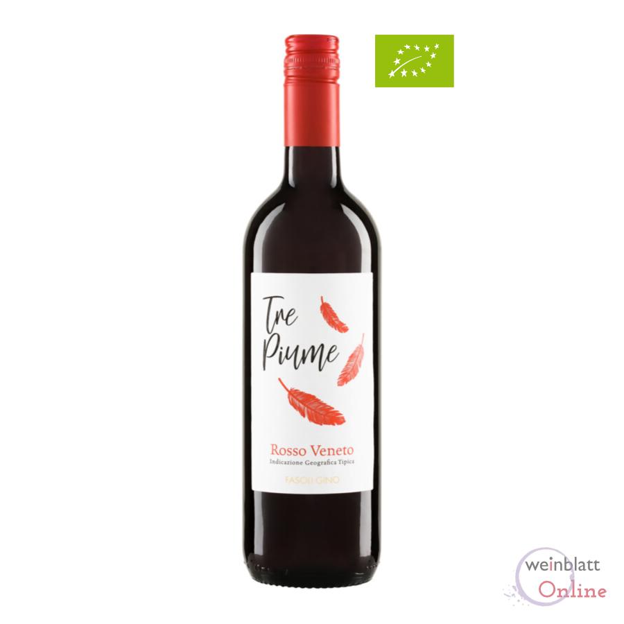 Tre Piume Rosso, 2019, IGT, tr., vegan, Bioprodukt - Gino Fasoli - IT-BIO-007