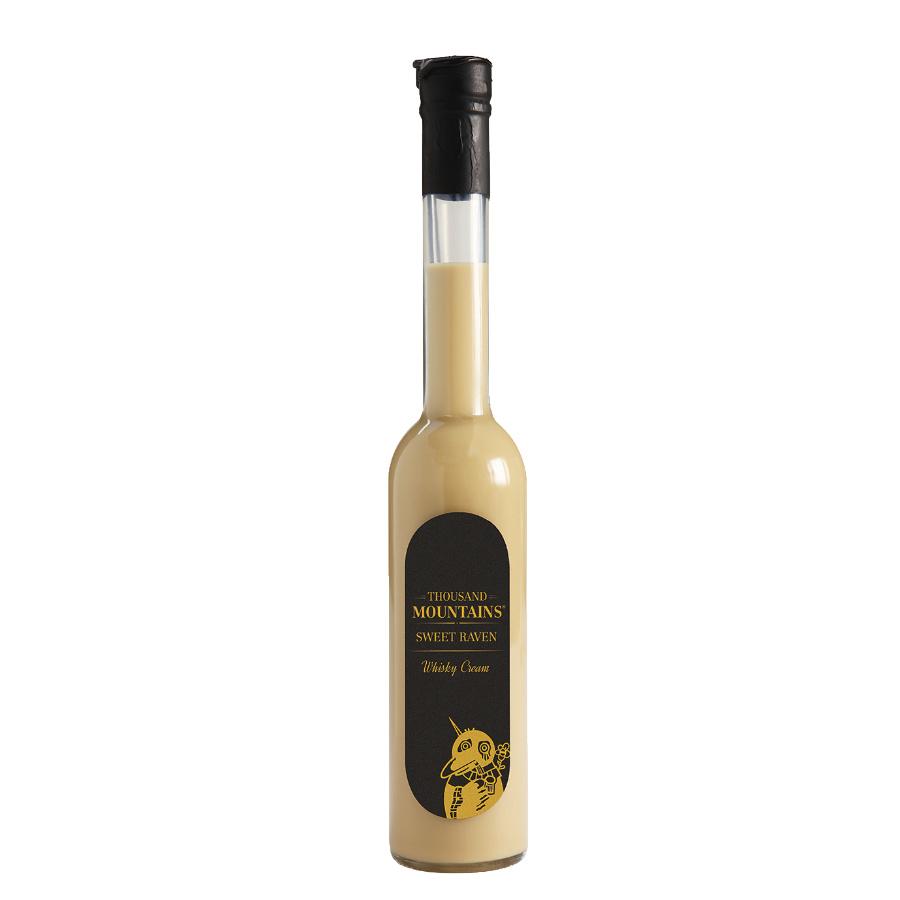 Whisky Sahne Likör, Whisky Sweet Raven  25% vol., 0,35 L - Sauerländer Edelbrennerei