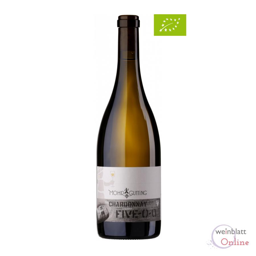 Chardonnay Five-O-O, 2019, QW, tr., Bioprodukt, vegan - Mohr-Gutting DE-ÖKO-039