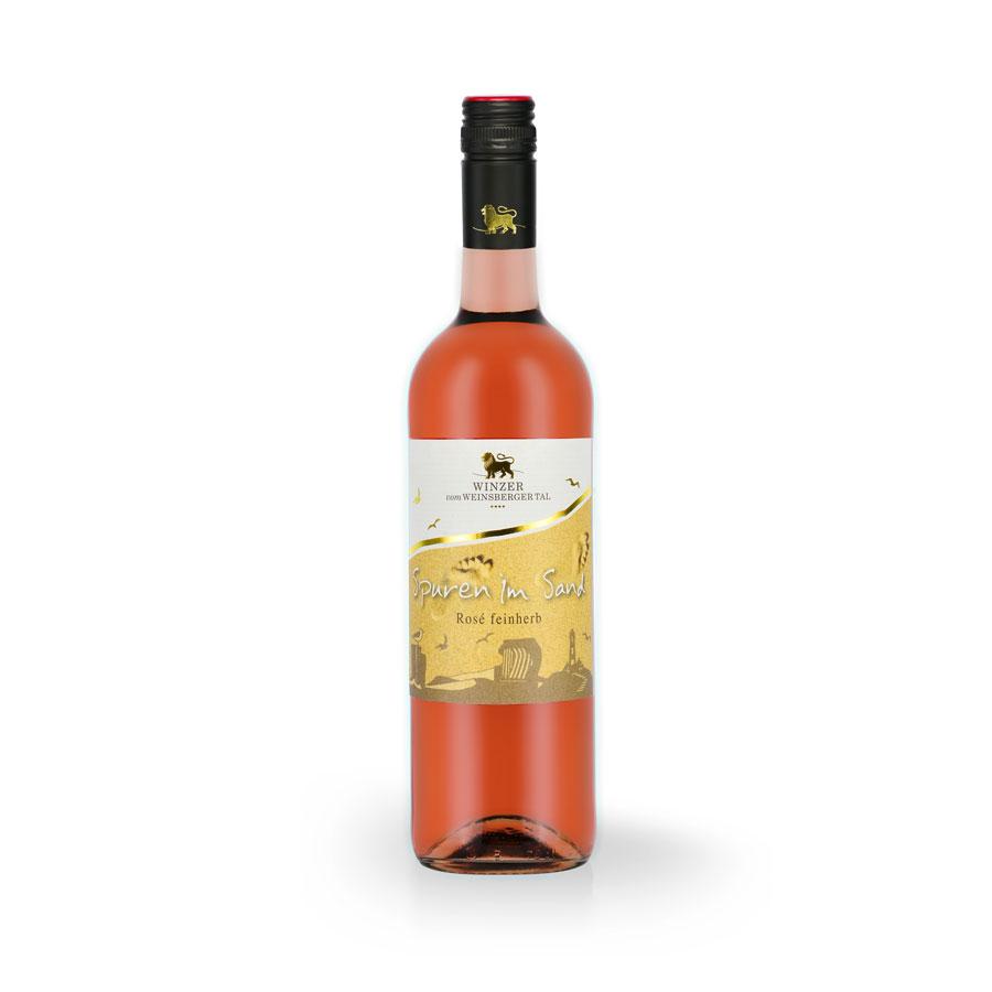 Spuren im Sand Roséwein-Cuvée, 2019, QW, htr. - Winzer vom Weinsberger Tal
