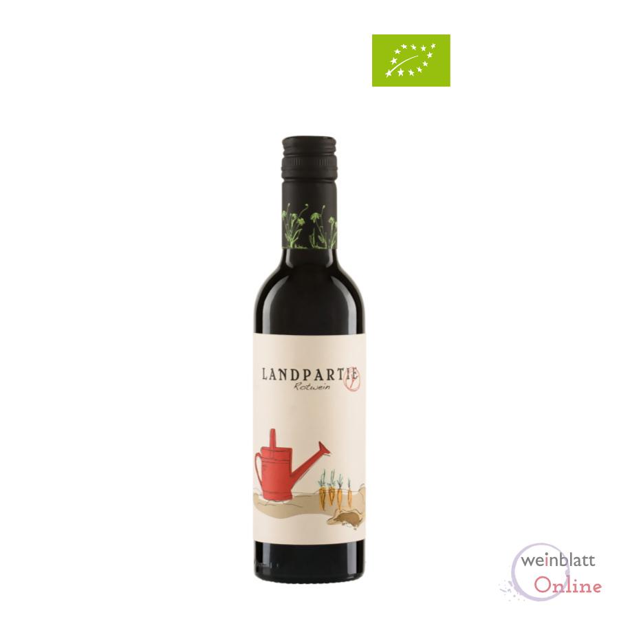 Halbe Flasche Landpartie rot, 2020, Tafelwein, feinherb, vegan, Bioprodukt DE-ÖKO-001